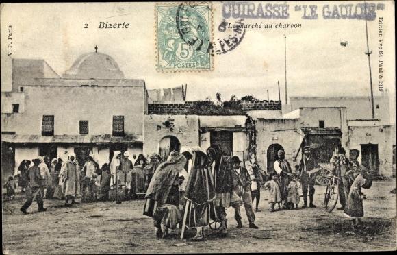 Ak Bizerte Tunesien, Le marché au charbon, Kohlemarkt
