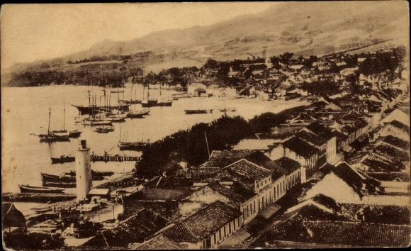 Ak Martinique, Saint Pierre avant la catastrophe, St. Pierre before the 1902 disaster