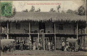 Ak Vietnam, Habitation d'un Cholon francais chez les Mois