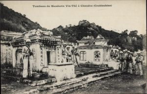 Ak Chaudoc Cochinchine Vietnam, Tombeau du Mandarin Vin Thé