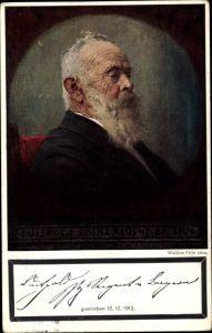 Künstler Ak Firle, Walther, Prinzregent Luitpold von Bayern, Trauerkarte 1912, Portrait