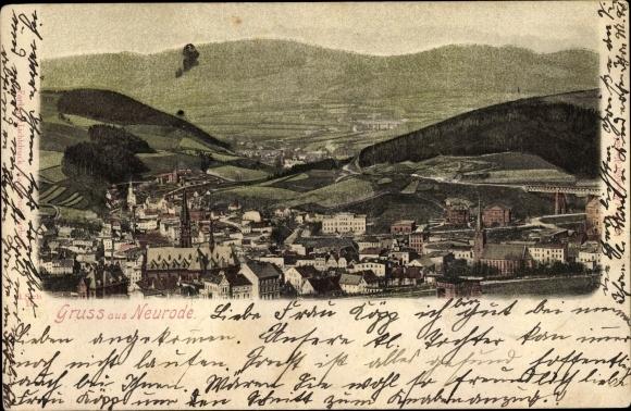 Ak Nowa Ruda Neurode Schlesien, Totalansicht von der Stadt