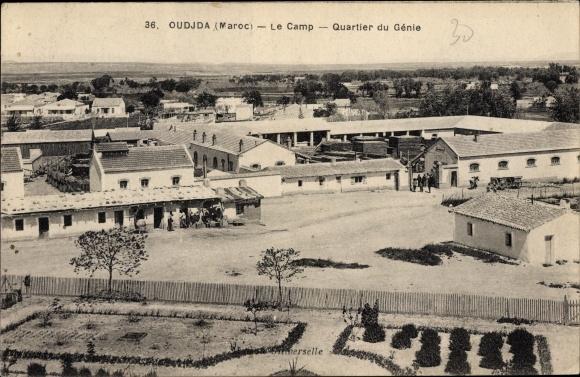 Ak Oudjda Oujda Marokko, Le Camp, Quartier du Génie