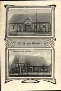 Ak Idensen Wunstorf in Niedersachsen, Gasthaus Heinr. Matthias, Saal