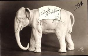 Ak Porte Bonheur, Glücksbringer, Elefant