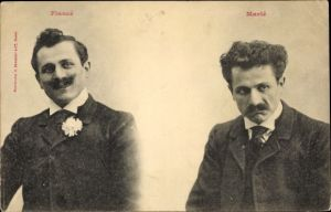 Ak Fiancé, Marié, verlobt, verheiratet, Männer, Anzüge