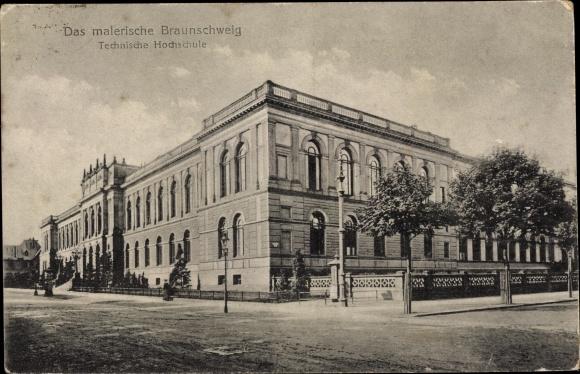 Ak Braunschweig in Niedersachsen, Technische Hochschule, Außenansicht