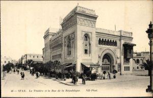 Ak Sfax Tunesien, Le Théâtre et la Rue de la République