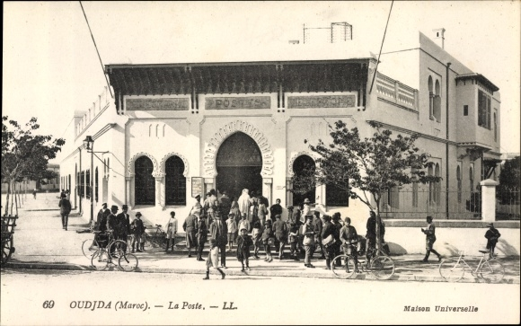 Ak Oudjda Oujda Marokko, La Poste, Postamt