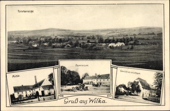 Ak Wilka Sulików Schönberg Oberlausitz Schlesien, Mühle, Dominium, Gerichtskretscham