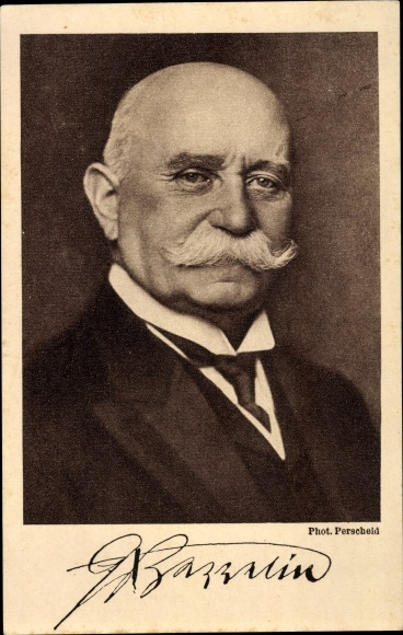 Ak Ferdinand Graf von Zeppelin, Portrait, Reichsausschuss Zeppelin Eckener Spende