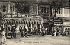 Ak Saigon Cochinchine Vietnam, Enterrement annamite