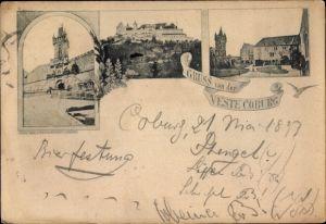 Vorläufer Ak Coburg in Oberfranken, Veste Coburg, Teilansichten