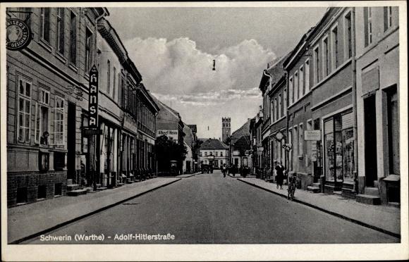 Ak Skwierzyna Schwerin Warthe Ostbrandenburg, Adolf Hitler Straße