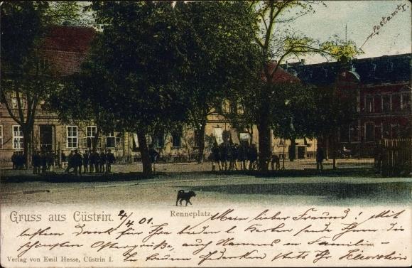 Ak Kostrzyn nad Odrą Cüstrin Ostbrandenburg, Renneplatz