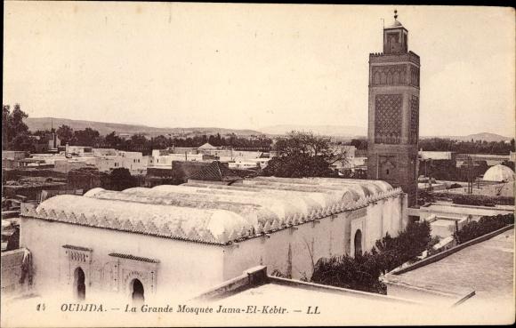 Ak Oudjda Oujda Marokko, La Grande Mosquée Jama El Kebir, Moschee, Levy & Fils 14