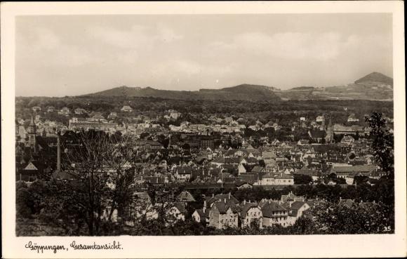 Ak Göppingen in Baden Württemberg, Gesamtansicht vom Ort