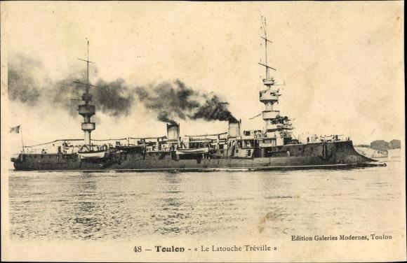 Ak Toulon Var, Französisches Kriegsschiff, Le Latouche Tréville, Croiseur Cuirassé