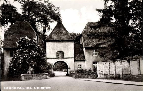 Ak Bersenbrück in Niedersachsen, Blick zur Klosterpforte
