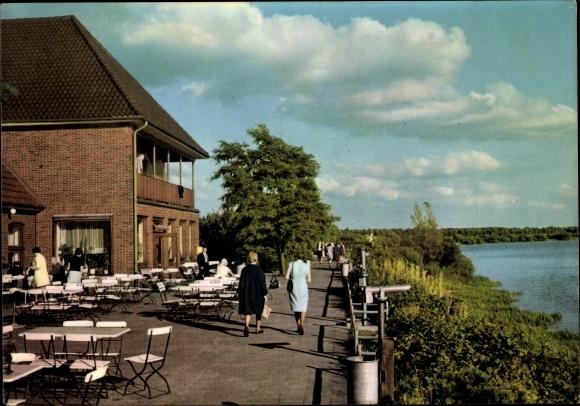Ak Thüle Friesoythe Niedersachsen, Hotel Seeblick, Thülsfelder Talsperre, Terrassenpartie