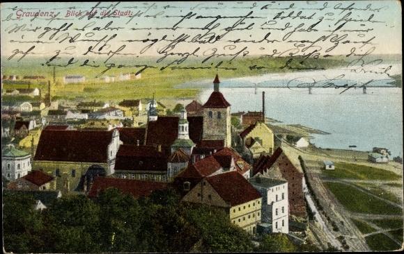 Ak Grudziądz Graudenz Westpreußen, Blick auf die Stadt