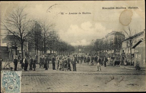 Ak Le Kremlin Bicêtre Val de Marne, Avenue de Bicêtre