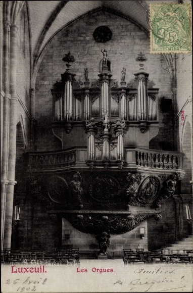 Ak Luxeuil les Bains Haute Saône, Les Orgues, Orgel