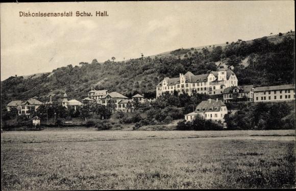 Ak Schwäbisch Hall in Baden Württemberg, Blick nach Diakonissenanstalt
