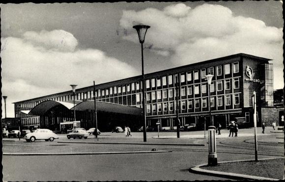 Ak Bochum im Ruhrgebiet, Blick auf den Hauptbahnhof