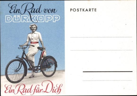 Ak Rad von Dürkopp, Ein Rad für Dich, Damenrad, Fahrzeuge und Nähmaschinen Bernard Goer aus Greven