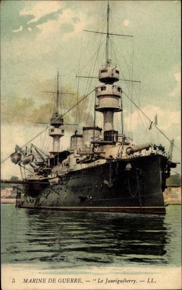 Ak Französisches Kriegsschiff, Jauréguiberry, Cuirassé, Marine de Guerre