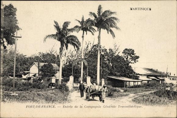 Ak Fort de France Martinique, Entree de la Compagnie Generale Transatlantique