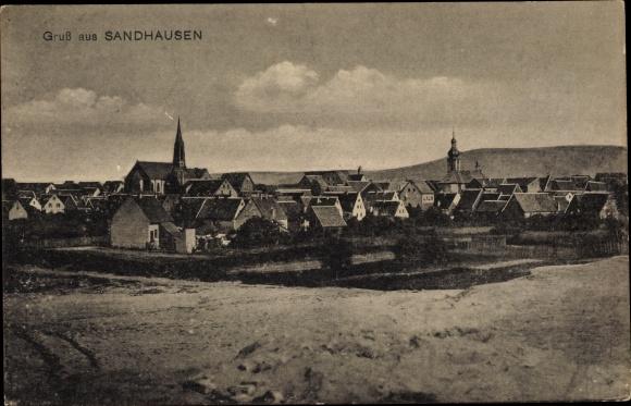 Ak Sandhausen Baden Württemberg, Totalansicht vom Ort