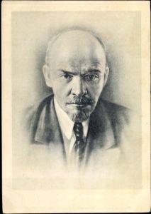 Künstler Ak Wladimir Iljitsch Lenin, Revolutionär, Begründer der Sowjetunion, Portrait