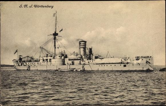 Ak Deutsches Kriegsschiff, SMS Württemberg, Linienschiff, Kaiserliche Marine