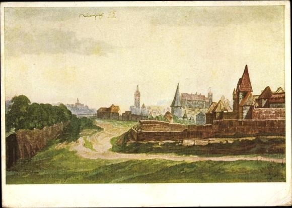 Künstler Ak Nürnberg in Mittelfranken Bayern, Nürnberg beim Spittler Tor