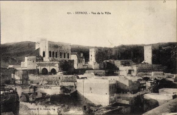 Ak Sefrou Marokko, Vue de la ville, Teilansicht der Stadt