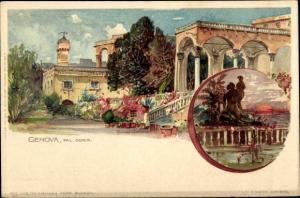 Künstler Litho Wielandt, Manuel, Genova Genua Ligurien, Palazzo Doria, Palast, Garten, Statuen
