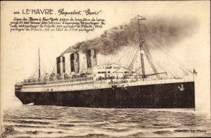 Ak Le Havre Seine Maritime, Paquebot Paris, CGT, Passagierschiff