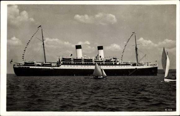 Ak Dampfschiff Monte Olivia, Hamburg Südamerikanische Dampfschifffahrtsgesellschaft HSDG