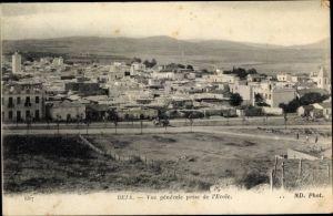 Ak Béja Tunesien, Vue générale prise de l'École, Panoramaansicht, ND. Phot. 687