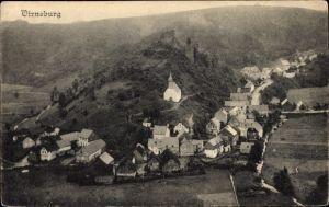 Ak Virneburg Rheinland Pfalz, Kapelle St. Trinitatis, Burgruine, Panorama vom Ort