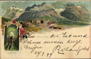 Litho Grindelwald Kt. Bern Schweiz, Panorama, Eisgrotte