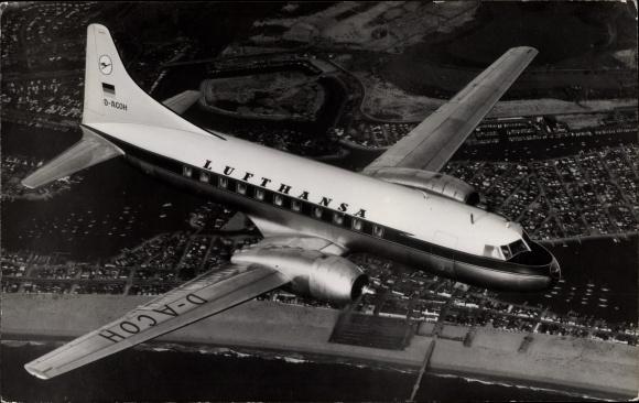 Ak Convair 340, Passagierflugzeug, Mittelstreckenmaschine, Lufthansa