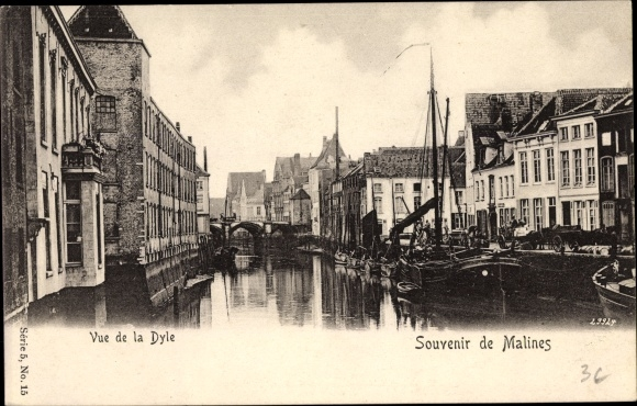 Ak Mechelen Malines Flandern Antwerpen, Vue de la Dyle