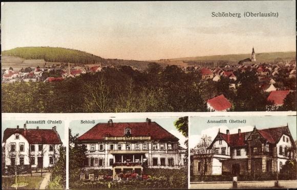 Ak Sulików Schönberg Oberlausitz Schlesien, Annastift, Schloss, Bethel