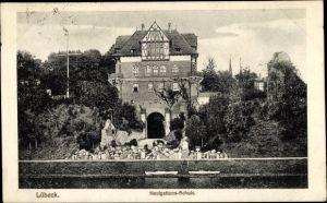 Ak Lübeck in Schleswig Holstein, Navigationsschule, Außenansicht