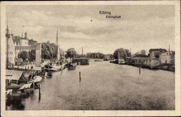 Ak Elbląg Elbing Westpreußen, Elbingfluss