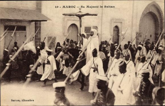 Ak Marokko, Sa Majesté le Sultan, Marokkanischer Sultan