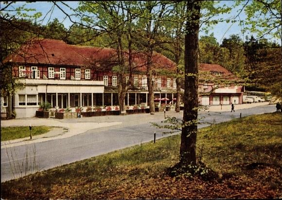 Ak Göhrde Gartow in Niedersachsen, Hotel zur Göhrde, Außenansicht